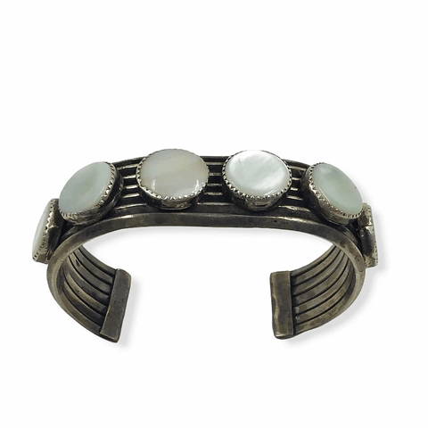 Image of Navajo Mother Of Pearl Pawn Bracelet