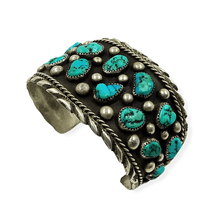 Load image into Gallery viewer, SOLD Sleeping Beauty Turquoise & Drops Brace