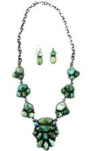 Load image into Gallery viewer, Navajo Royston, Sonoran & Kingman Turquoise Necklace-Kathleen Chavez