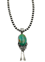 Load image into Gallery viewer, SOLD Royston Turquoise Large Blossom Neckl B. Johnson