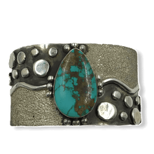 Load image into Gallery viewer, Navajo Royston Turquoise River Bracelet