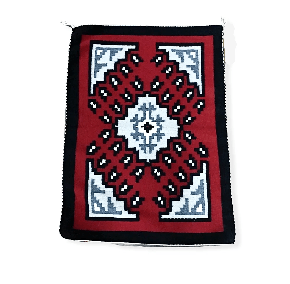 Navajo Ganado Red Rug by A. Castillo