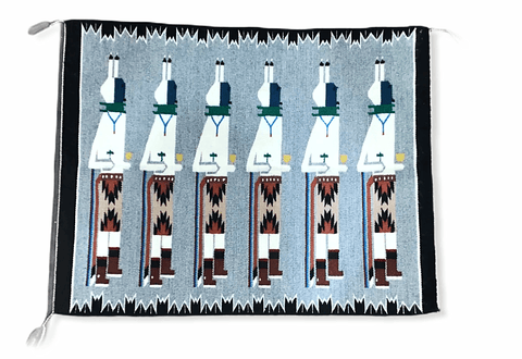 Image of Navajo Rug - Navajo Yei Be Chei Ceremony Rug
