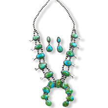 Load image into Gallery viewer, Navajo Sonoran Gold Squash Blossom Necklace- Randy Billy