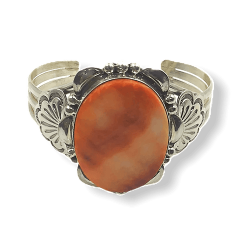 Image of Navajo Spiny Oyster Bracelet W/ Stamping