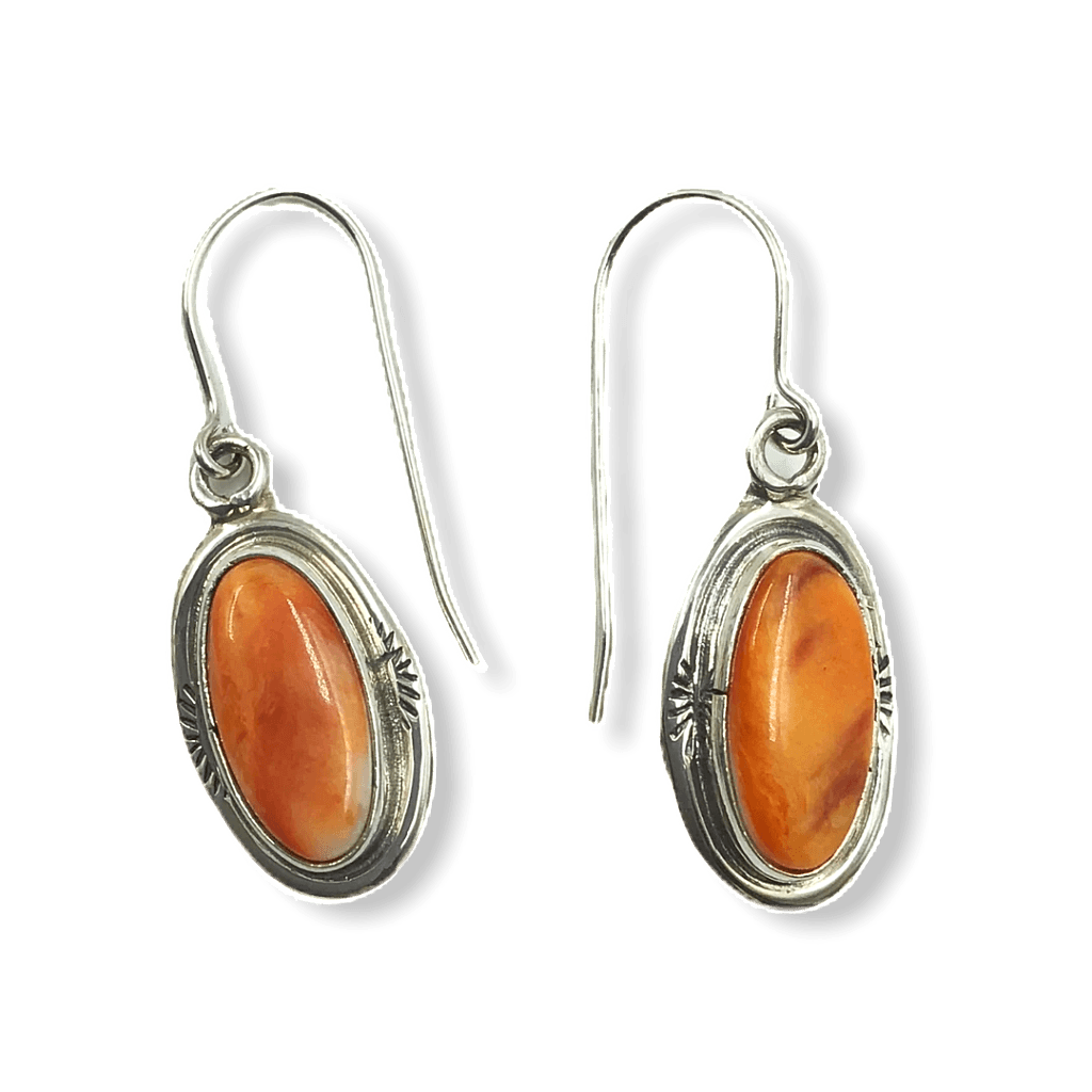 Navajo Spiny Oyster Hook Earrings