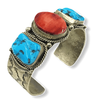 Load image into Gallery viewer, Navajo Spiny Oyster & Sleeping Beauty Bracelet