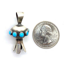 Load image into Gallery viewer, Navajo Turquoise  Blossom Pendant