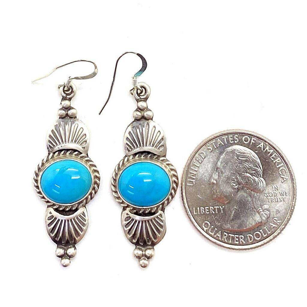 Navajo Turquoise Earrings By Mike Calladitto