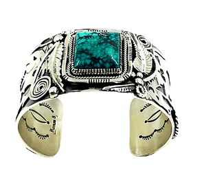 Navajo Turquoise Horse Bracelet-Wide