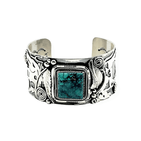 Image of Navajo Turquoise Horse Bracelet-Wide