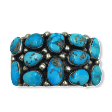 Load image into Gallery viewer, Navajo Turquoise Nugget Bracelet -Wide