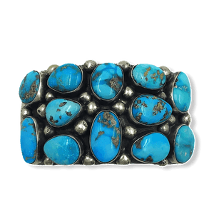 Navajo Turquoise Nugget Bracelet -Wide