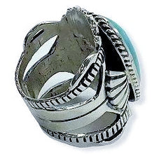 Load image into Gallery viewer, Navajo Turquoise Ring-Lorenzo James