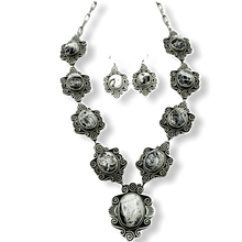 Load image into Gallery viewer, Navajo White Buffalo Necklace By Mike Caladito