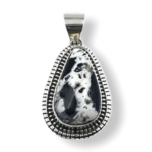 Load image into Gallery viewer, Navajo White Buffalo Pendant-Tear Drop