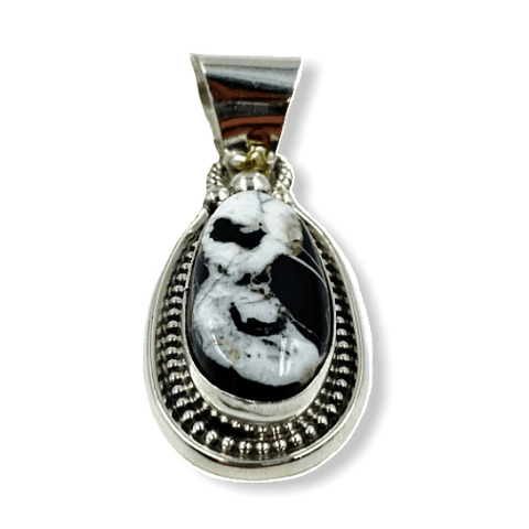 Image of Navajo White Buffalo Pendant-Tear Drop