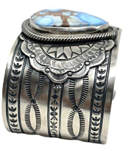 Load image into Gallery viewer, SOLD Navajo Wide Golden Hills Turquoise Brace.