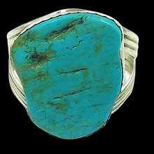 Load image into Gallery viewer, Old Pawn Navajo Turquoise Nugget Bracelet