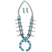 Load image into Gallery viewer, Paul Livingston Squash Blossom Necklace -Navajo