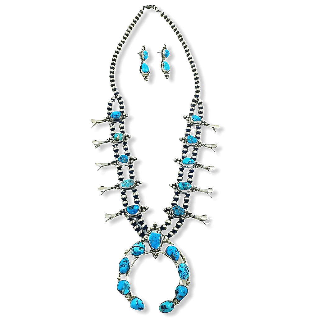 Paul Livingston Squash Blossom Necklace -Navajo
