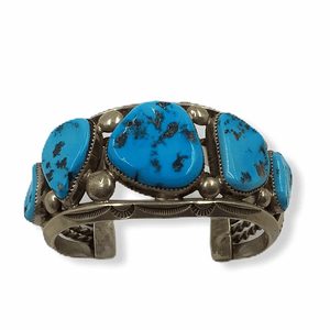 Pawn Large Sleeping Beauty Nugget Bracelet -Navajo