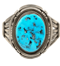 Load image into Gallery viewer, Pawn Navajo Large Stone Sleeping Beauty Turquoise Cuff