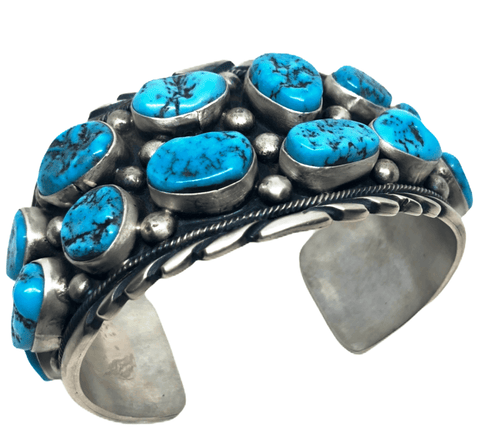Image of Pawn Navajo Sleeping Beauty Turquoise Nugget Bracelet