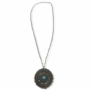 Pawn Zuni Needle Point Necklace