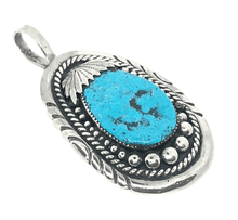 Load image into Gallery viewer, Pawn Zuni Sleeping Beauty Turquoise Nugget Pendant