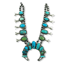 Load image into Gallery viewer, SOLD Sheila Becenti Royston Squash Blossom Necklace -Navajo