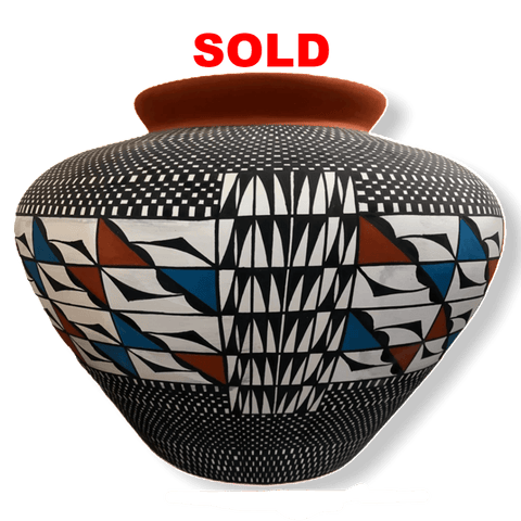SOLD Acoma Tri Color By Melissa Antonio