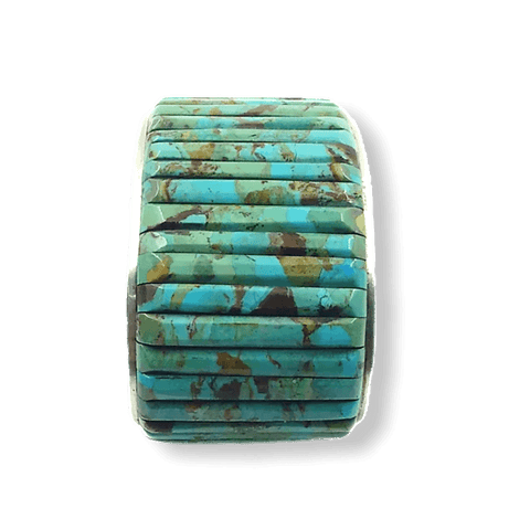 Image of SOLD Kingman Turquoise Cobblestone Brace-Wide
