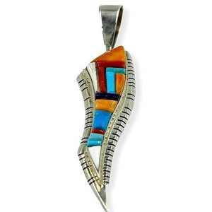 SOLD Navajo Spine Oyster & Turquoise P.endant