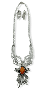 Spiny Oyster Navajo Flame Necklace