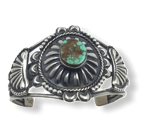 Image of Stamped Navajo Royston Turquoise Bracelet