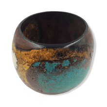 Load image into Gallery viewer, SOLD Turquoise & Antler Mesquite Woo.d Turning by R. Barela