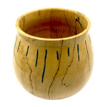 Load image into Gallery viewer, SOLD Turquoise Inlay Box Elder Wood Turning by S. Heath