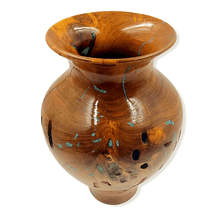 Load image into Gallery viewer, Turquoise & Mesquite Wood Turned Vessel by G. Austin