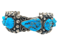 Load image into Gallery viewer, Vintage Zuni Sterling Silver Sleeping Beauty Turquoise Bracelet