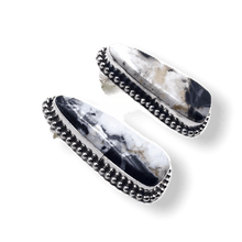 Load image into Gallery viewer, White Buffalo Navajo Earrings
