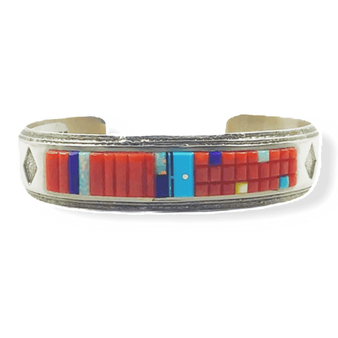 Image of Wilbert Manning Multi Color Corn Row Bracelet -Navajo