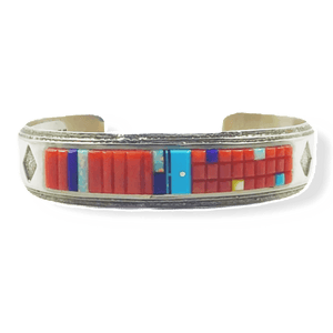 Wilbert Manning Multi Color Corn Row Bracelet -Navajo