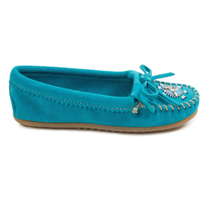 Women's Beaded Turquoise Moccasins 401J