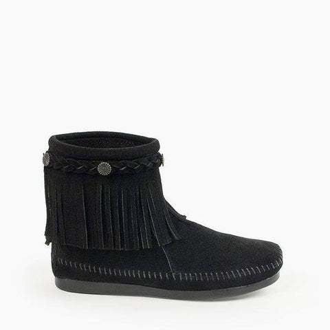 Image of Women's High Top Back Zip Boots Black 299