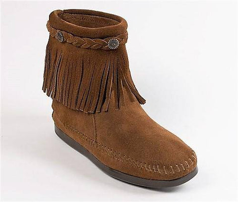 Image of Women's High Top Back Zip Boots Dusty Brown 293