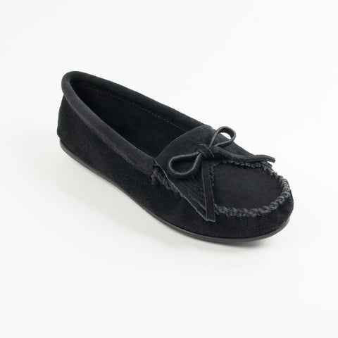 Image of Women's Kilty Hardsole Moccasins Black 400