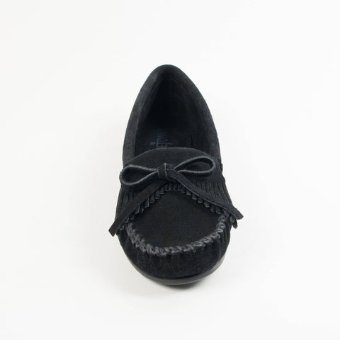 Women's Kilty Hardsole Moccasins Black 400
