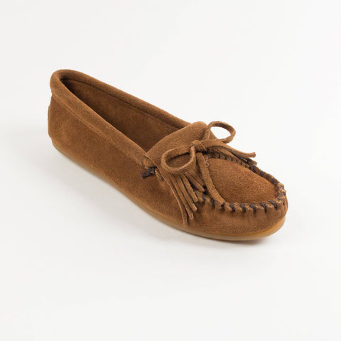 Image of Women's Kilty Hardsole Moccasins Dusty Brown 403