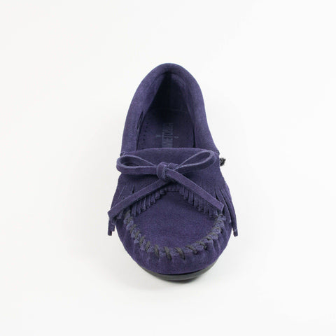 Image of Women's Kilty Hardsole Moccasins Navy 409T
